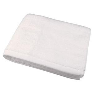 (まとめ)旭紡績 泉州の高級バスタオル 乳白色 8107291【×2セット】