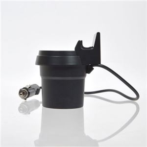 (まとめ)サンコー ドリンクホルダー固定シガー&USBデュアルチャージャー USBCHGC4【×3セット】