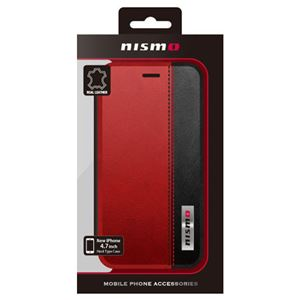 NISSAN 公式ライセンス品 NISMO BICOLOR LEATHER BOOK TYPE CASE iPhone6 用 NM-P47B3RD h01