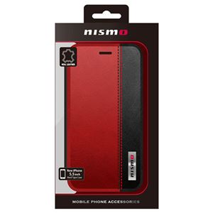NISSAN 公式ライセンス品 NISMO BICOLOR LEATHER BOOK TYPE CASE iPhone6 PLUS用 NM-P55B3RD h01