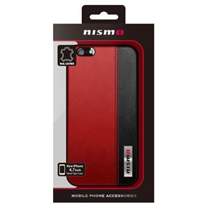 NISSAN 公式ライセンス品 NISMO BICOLOR LEATHER HARD CASE iPhone6 用 NM-P47S3RD h01