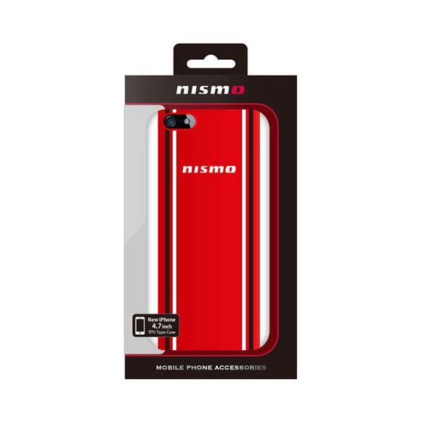 (まとめ)NISSAN 公式ライセンス品 NISMO STRIPE HARD CASE iPhone6 用 NM-P47S9RD【×2セット】f00