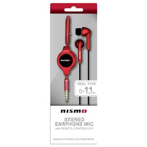 NISSAN 公式ライセンス品 NISMO STEREO EARPHONEMIC WITH REMOTE CONTROLLER RED NM-ES36RD【×2セット】 h01
