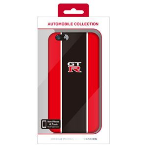 (まとめ)NISSAN 公式ライセンス品 GT-R STRIPE HARD CASE RED iPhone6 用 NR-P47S2RD【×2セット】 h01