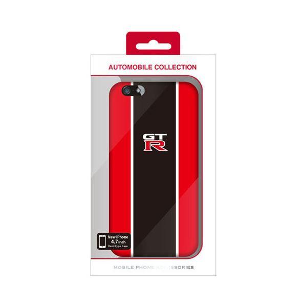 (まとめ)NISSAN 公式ライセンス品 GT-R STRIPE HARD CASE RED iPhone6 用 NR-P47S2RD【×2セット】f00