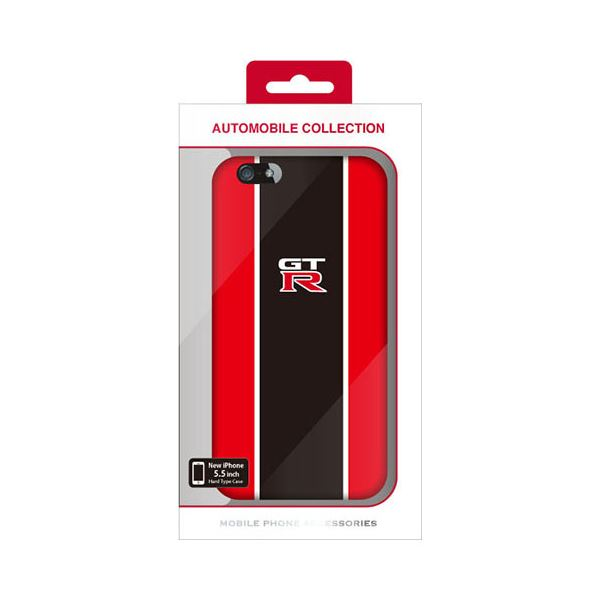 (まとめ)NISSAN 公式ライセンス品 GT-R STRIPE HARD CASE RED iPhone6 PLUS用 NR-P55S2RD【×2セット】f00