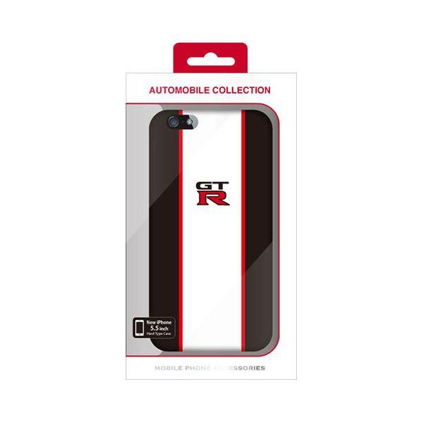 (まとめ)NISSAN 公式ライセンス品 GT-R STRIPE HARD CASE BLACK iPhone6 PLUS用 NR-P55S2BK【×2セット】f00