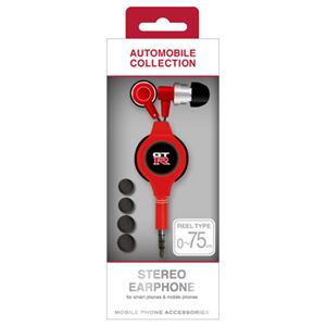 NISSAN 公式ライセンス品 GT-R STREO EARPHONE RED NR-ES37RD【×3セット】f01