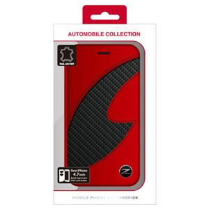 NISSAN 公式ライセンス品 FAIRLADY Z CARBON LEATHER BOOK TYPE CASE RED iPhone6 用 NZ-P47B1RD h01