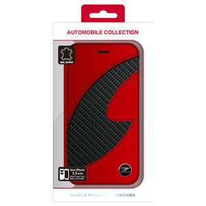 NISSAN 公式ライセンス品 FAIRLADY Z CARBON LEATHER BOOK TYPE CASE RED iPhone6 PLUS用 NZ-P55B1RD h01
