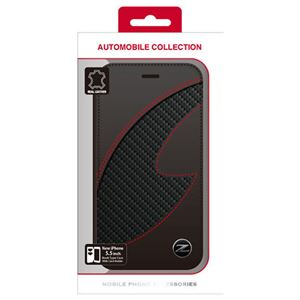 NISSAN 公式ライセンス品 FAIRLADY Z CARBON LEATHER BOOK TYPE CASE BLACK iPhone6 PLUS用 NZ-P55B1BK h01