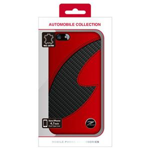 NISSAN 公式ライセンス品 FAIRLADY Z CARBON LEATHER HARD CASE RED iPhone6 用 NZ-P47S1RD h01