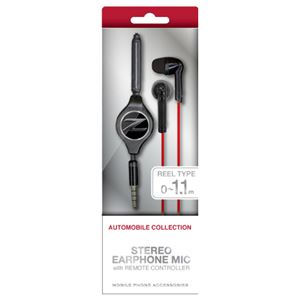 NISSAN 公式ライセンス品 FAIRLADY Z STREO EARPHONEMIC WITH REMOTE CONTROLLER BLACK NZ-ES36BK【×2セット】 h01