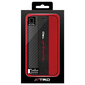 トヨタ レーシング デベロップメント公式ライセンス品 Carbon Leather Book Type Case for iPhone6 iPhone6 用 TRD-P47B6 h01