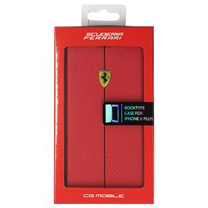FERRARI 公式ライセンス品 FORMULA ONE Booktype Case Red iPhone6 PLUS用 FEFOCFLBKP6LRE