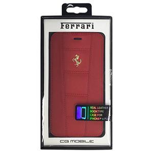 FERRARI 公式ライセンス品 458 Red Leather Booktype Case iPhone6 PLUS用 FE458GFLBKP6LRE h01
