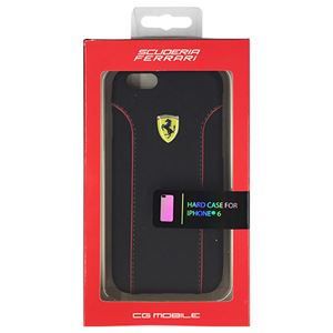 FERRARI 公式ライセンス品 FIORANO Black PU Leather Hard Case iPhone6 用 FEDA2IHCP6BL h01