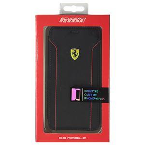 FERRARI 公式ライセンス品 FIORANO Black PU Leather Booktype Case iPhone6 PLUS用 FEDA2IFLBKP6LBL h01