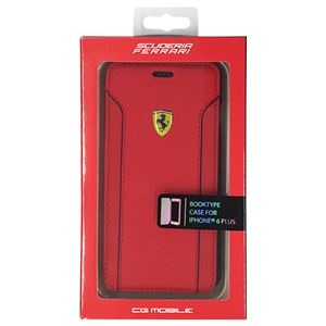 FERRARI 公式ライセンス品 FIORANO Red PU Leather Booktype Case iPhone6 PLUS用 FEDA2IFLBKP6LRE h01