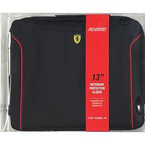 FERRARI 公式ライセンス品 FIORANO Black PU Leather Computer Sleeve 13インチノートパソコン等 FEDA2ICS13BL