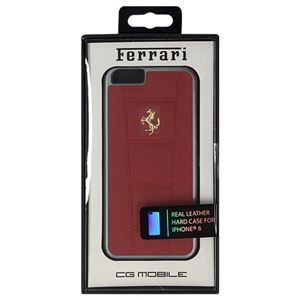 FERRARI 公式ライセンス品 458 Red Leather Hard Case iPhone6 用 FE458GHCP6RE h01