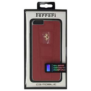 FERRARI 公式ライセンス品 458 Red Leather Hard Case iPhone6 PLUS用 FE458GHCP6LRE h01