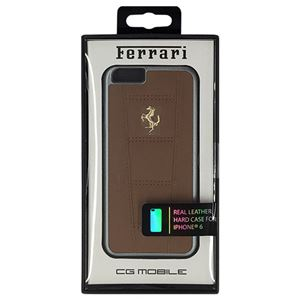 FERRARI 公式ライセンス品 458 -Camel Leather Hard Case iPhone6 用 FE458GHCP6CA h01