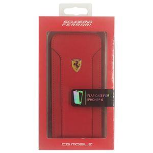 FERRARI 公式ライセンス品 FIORANO Red PU Leather Flap Case iPhone6 用 FEDA2IFLP6RE h01