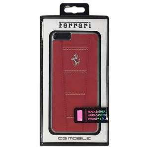 FERRARI 公式ライセンス品 458 Red Leather with Beige Stitchings Hard Case iPhone6 PLUS用 FE458HCP6LREB h01