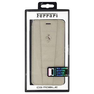 FERRARI 公式ライセンス品 458 Dark Gray Leather Booktype Case iPhone6 PLUS用 FE458FLBKP6LGR h01