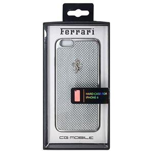FERRARI 公式ライセンス品 GT White Carbon Case Silver Frame iPhone6 用 FECBSIHCP6WH h01