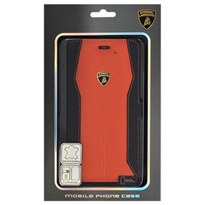 Lamborghini 公式ライセンス品 Genuine Leather book case w/card holder 本革製手帳型ケース(カードホルダー付き) iPhone6 PLUS用 LB-SSHFCIP6L-HU/D1-OE h01