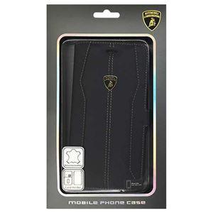 Lamborghini 公式ライセンス品 Genuine Leather book case w/card holder 本革製手帳型ケース(カードホルダー付き) iPhone6 PLUS用 LB-SSHFCIP6L-HU/D1-BK h01