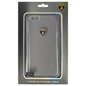 (まとめ)Lamborghini 公式ライセンス品 Ultra thin polycarbonate nude skin case スーパースリムクリアPCハードケース iPhone6 PLUS用 LB-UVMIP6L-DI/D0-WE【×2セット】 h01