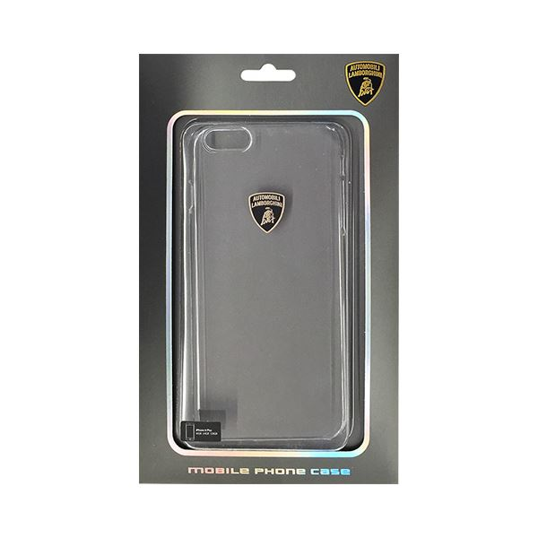 (まとめ)Lamborghini 公式ライセンス品 Ultra thin polycarbonate nude skin case スーパースリムクリアPCハードケース iPhone6 PLUS用 LB-UVMIP6L-DI/D0-WE【×2セット】f00