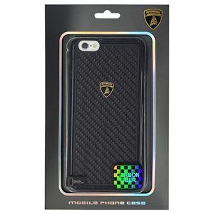 Lamborghini 公式ライセンス品 Tri-material、TPU and carbon fiber skin case TPU+カーボンハードケース iPhone6 PLUS用 LB-TPUPCIP6L-EL/D2-BK h01