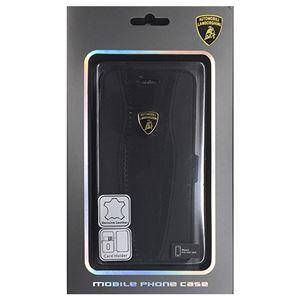 Lamborghini 公式ライセンス品 Genuine Leather book case w/card holder iPhone6 用 LB-SSHFCIP6-HU/D2-BK h01
