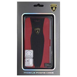 Lamborghini 公式ライセンス品 Genuine Leather book case w/card holder iPhone6 用 LB-SSHFCIP6-HU/D2-RD h01