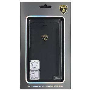Lamborghini 公式ライセンス品 Genuine Leather book case w/card holder iPhone6 用 LB-SSHFCIP6-HU/D5-BK h01