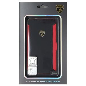 Lamborghini 公式ライセンス品 Genuine Leather book case w/card holder iPhone6 用 LB-SSHFCIP6-HU/D5-RD h01