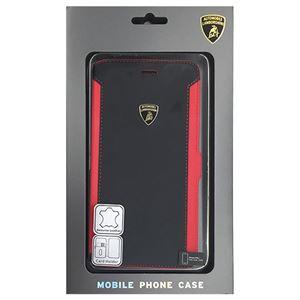 Lamborghini 公式ライセンス品 Genuine Leather book case w/card holder iPhone6 PLUS用 LB-SSHFCIP6P-HU/D5-RD h01