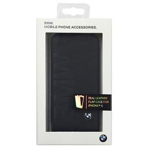 BMW 公式ライセンス品 Flap case BMW debossed logo- Black iPhone6 用 BMFLP6LOB h01