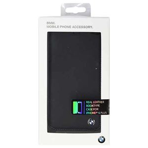 BMW 公式ライセンス品 Booktype case Bicolor Black/Blue iPhone6 PLUS用 BMFLBKP6LCLB h01