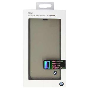 BMW 公式ライセンス品 Booktype case Bicolor Gray/Black iPhone6 PLUS用 BMFLBKP6LCLT h01