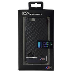 BMW 公式ライセンス品 PC Hard case Carbon & Aluminium finish Black iPhone6 用 BMHCP6MDCB h01
