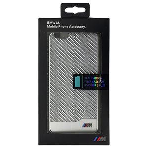 BMW 公式ライセンス品 PC Hard case Carbon & Aluminium finish Silver iPhone6 PLUS用 BMHCP6LMDCS h01