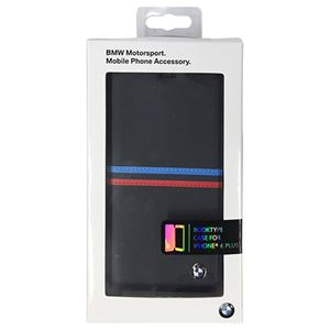 BMW 公式ライセンス品 Booktype case Tricolor stripes Blue iPhone6 PLUS用 BMFLBKP6LSBNf01