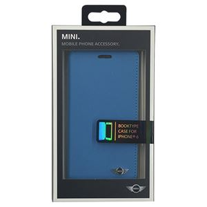 MINI 公式ライセンス品 YOU ME MIN Booktype Blue iPhone6 用 MNFLBKP6YMMEB h01