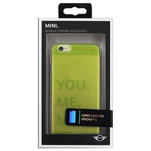 (まとめ)MINI 公式ライセンス品 Hard case Transparent Lime Punch iPhone6 用 MNHCP6TRLG【×2セット】 h01