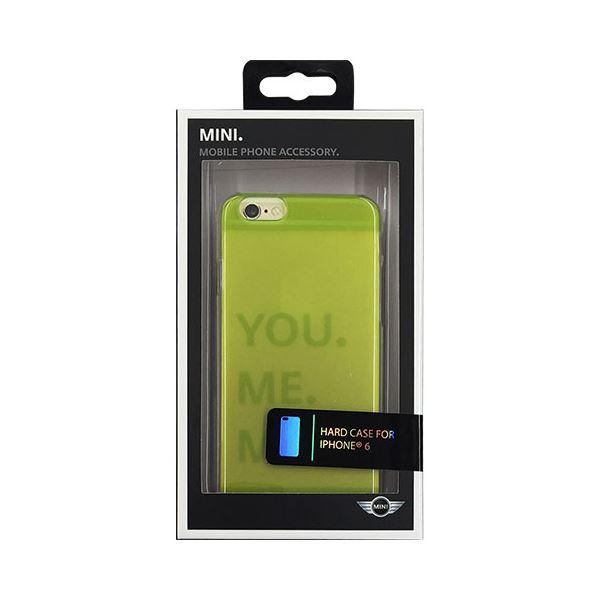 (まとめ)MINI 公式ライセンス品 Hard case Transparent Lime Punch iPhone6 用 MNHCP6TRLG【×2セット】f00